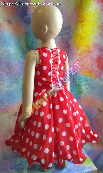56b70b33014 ... Детское праздничное платье красное в белые горохи (вар. 3) в Житомире  купить или. Прокат карнавального ...